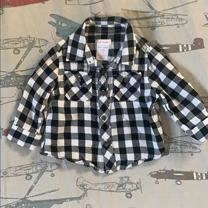 Other - 🤭3 for $21: Black and White Plaid Flannel Shirt